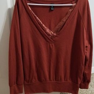 Burnt orange long sleeve shirt
